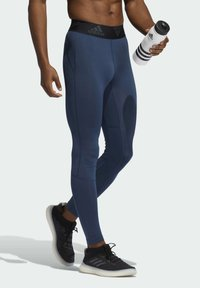 adidas Performance - TURF 3 BAR LT PRIMEGREEN TECHFIT WORKOUT COMPRESSION LEGGINGS - Collants - blue - 2