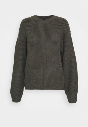 FASHIONED JUMPER - Jumper - dark grey