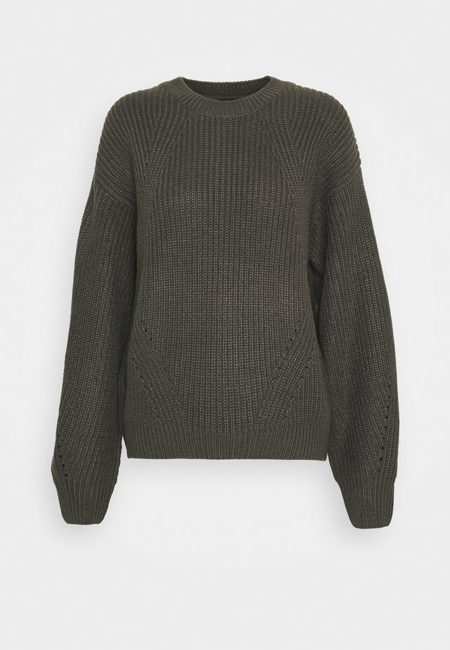 FASHIONED JUMPER - Neule - dark grey