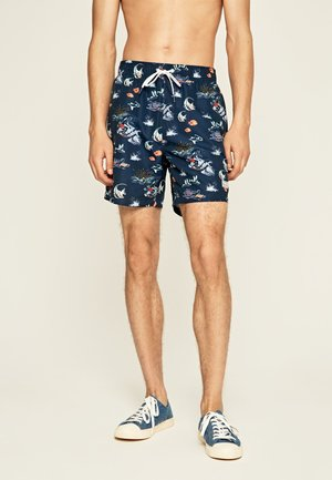 WARREN - Swimming shorts - azul marino
