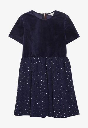 PRINTED COMBI DRESS - Cocktailjurk - blue