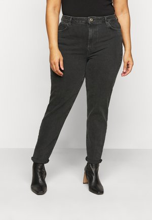 PCLEAH MOM - Relaxed fit jeans - black