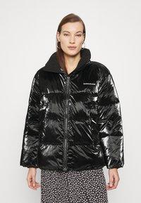 Calvin Klein Jeans - HIGH SHINE PUFFER - Winter jacket - ck black - 0
