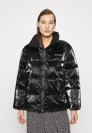 HIGH SHINE PUFFER - Winter jacket - ck black