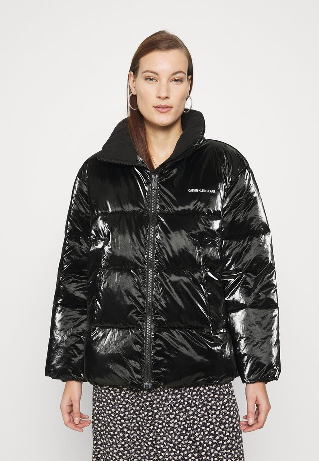 HIGH SHINE PUFFER - Kurtka zimowa - ck black
