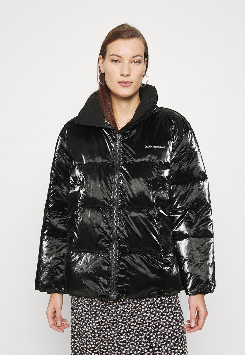 Calvin Klein Jeans - HIGH SHINE PUFFER - Winter jacket - ck black