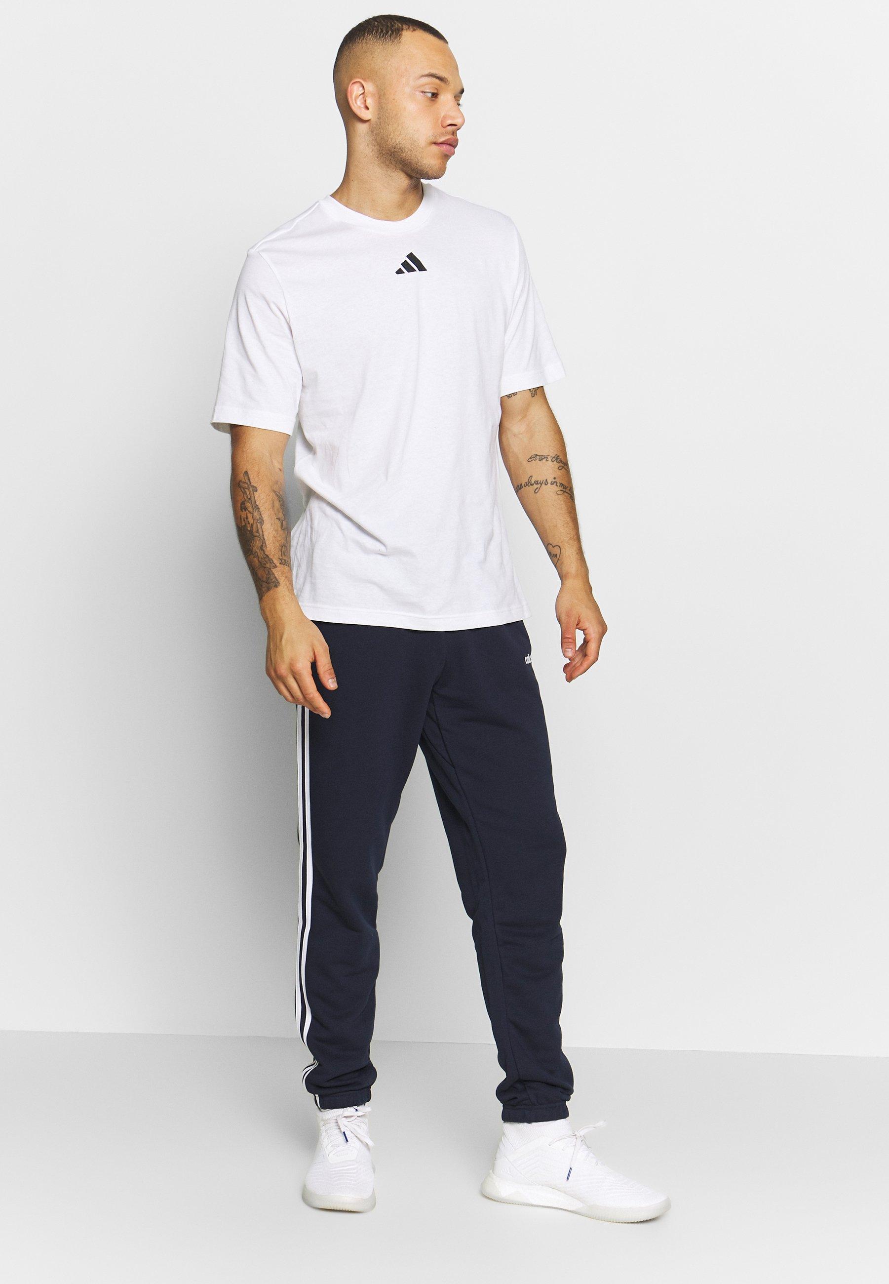 adidas Performance SPACE RACE TEE  - Camiseta estampada - white c714T