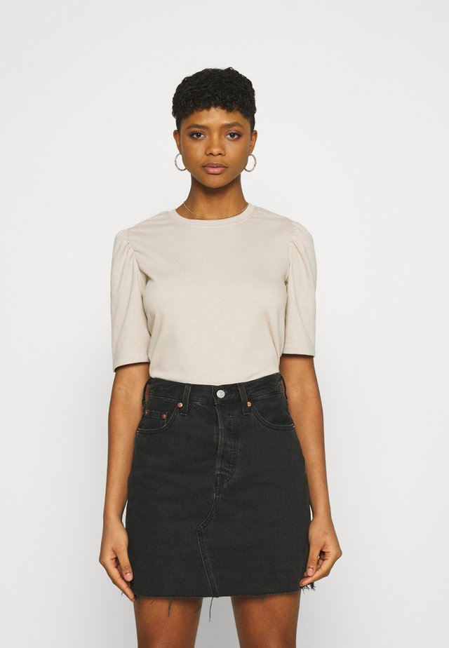 JDYBINE IVY LIFE PUFF - T-shirt con stampa - chateau gray