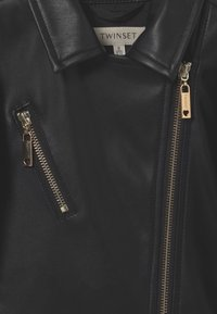 TWINSET - CHIODO - Faux leather jacket - nero - 2