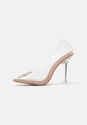TOP UP  - Højhælede pumps - clear/nude
