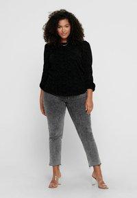 ONLY Carmakoma - ZEBRA - Long sleeved top - black - 1