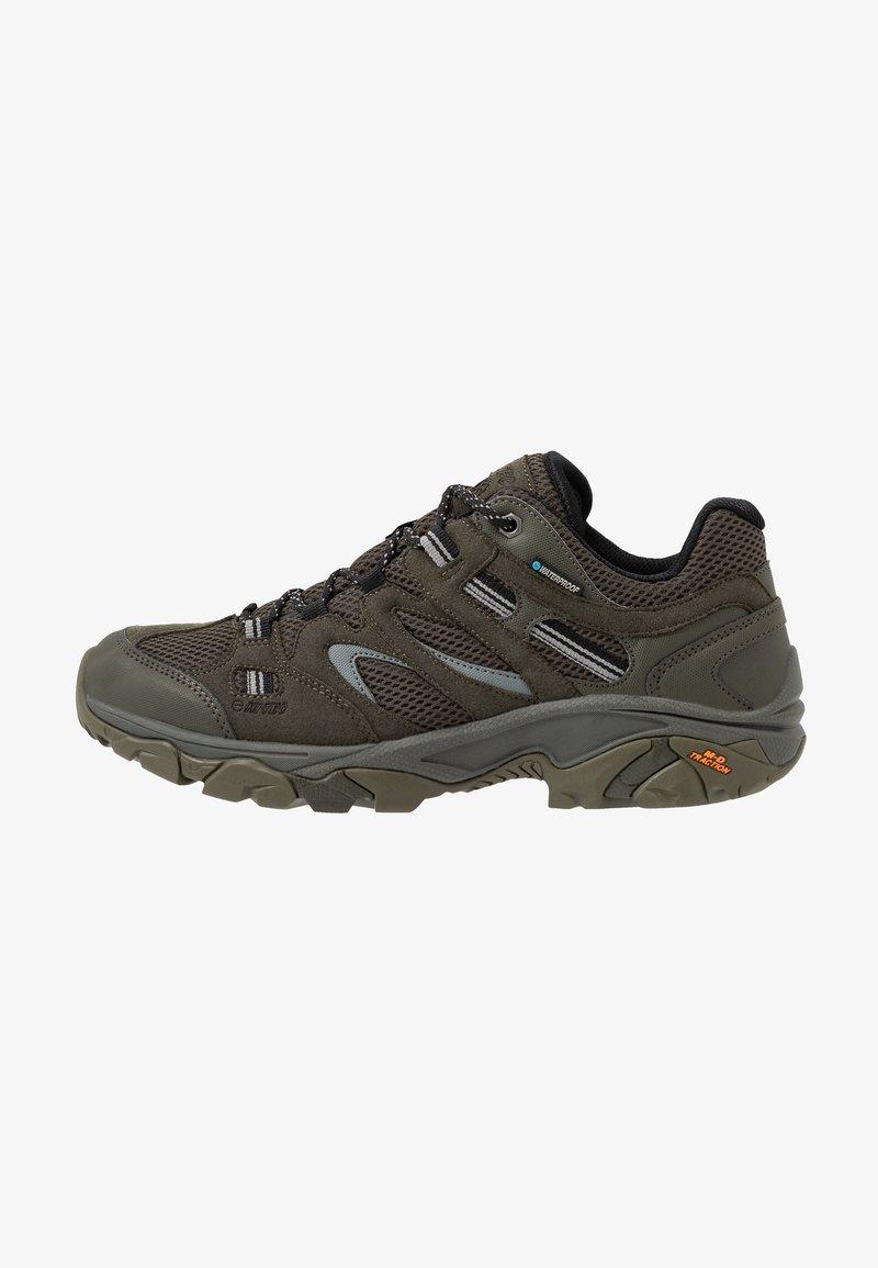 Hi-Tec - RAVUS VENT LITE LOW WATERPROOF - Hiking shoes - olive night/black/cool grey