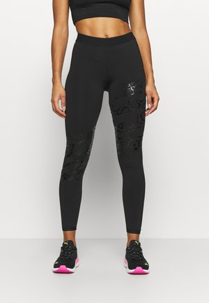 TRAIN PLACED PRINT FULL - Leggings - black
