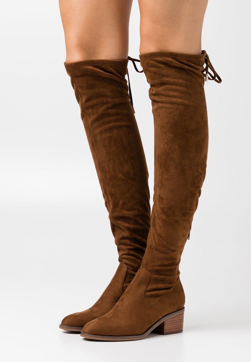 Steve Madden - GERARDINE - Overknee laarzen - brown