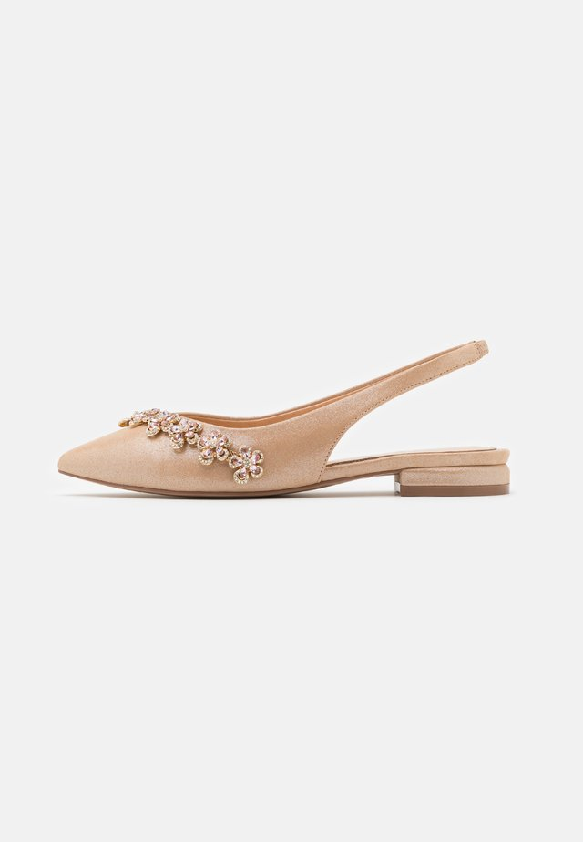 JOURNEY - Slingback ballet pumps - light champagne
