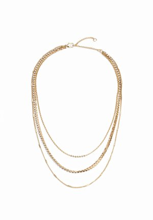 DAINTY CUPCHAIN MULTIROW - Necklace - gold-coloured