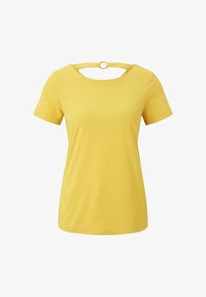 Print T-shirt - deep golden yellow