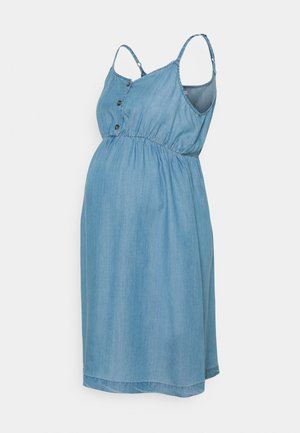 DRESS - Denim dress - medium wash
