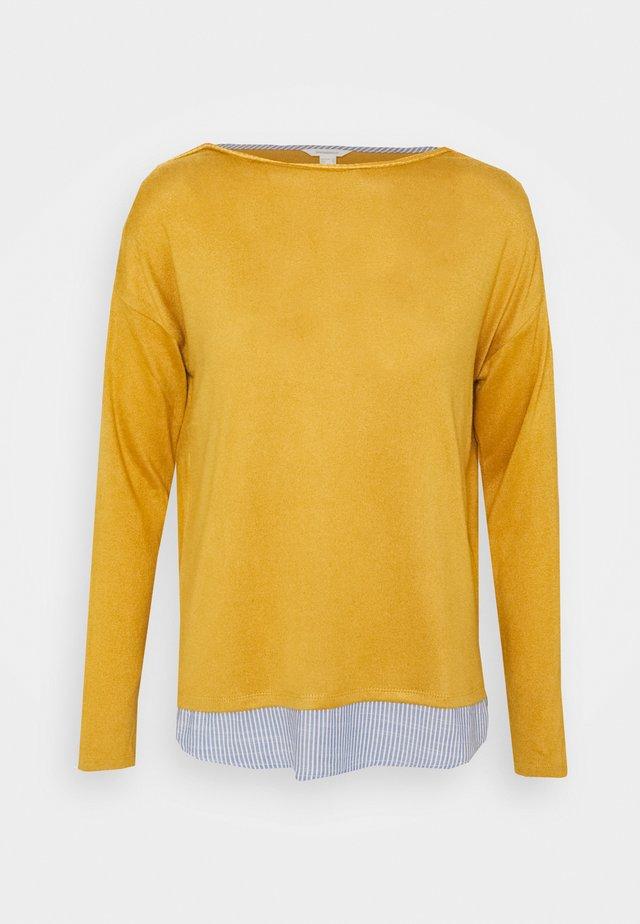 BIMATERIA TRENZA - Maglione - yellow/off-white