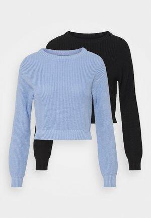 2 PACK - Jumper - black/light blue