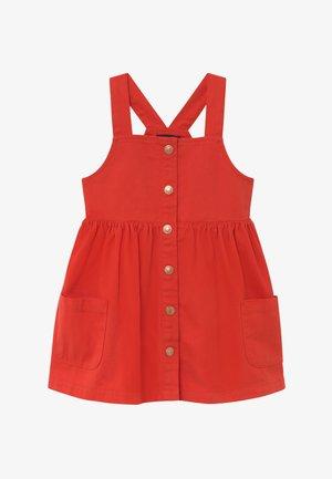 KIDS DENIM PINAFORE - Denim dress - tomate