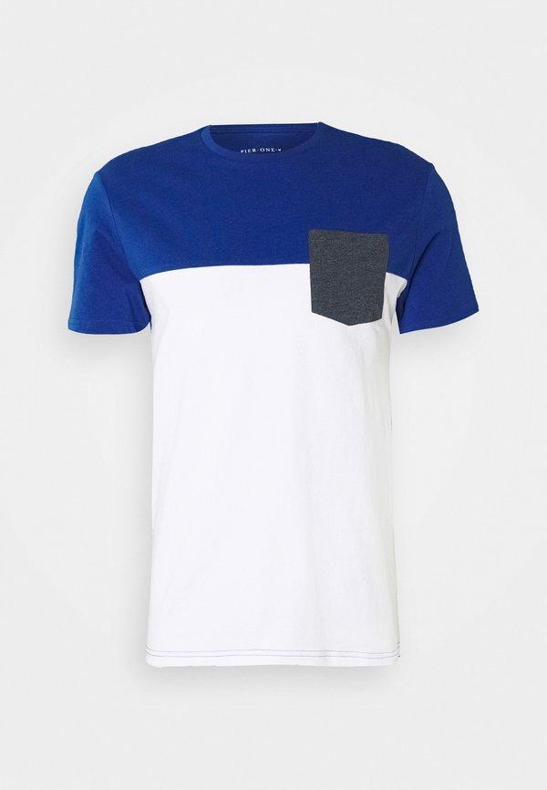 Pier One T-shirt z nadrukiem - light blue/jasnoniebieski Odzież Męska FQLW