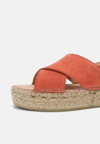 Steven New York - MARLIE - Platform sandals - coral suede - 5