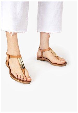 T-bar sandals - coconut