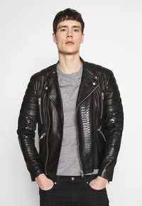 Serge Pariente - GLADATORPYTON - Leather jacket - black - 0