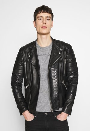 GLADATORPYTON - Leather jacket - black