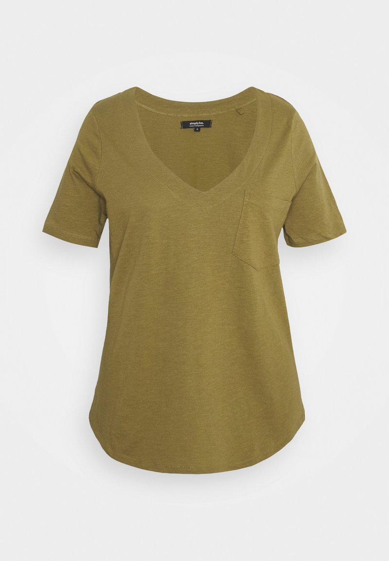 Simply Be - UTILITY - Basic T-shirt - olive