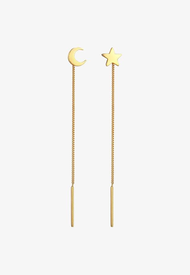 STAR, MOON - Pendientes - gold