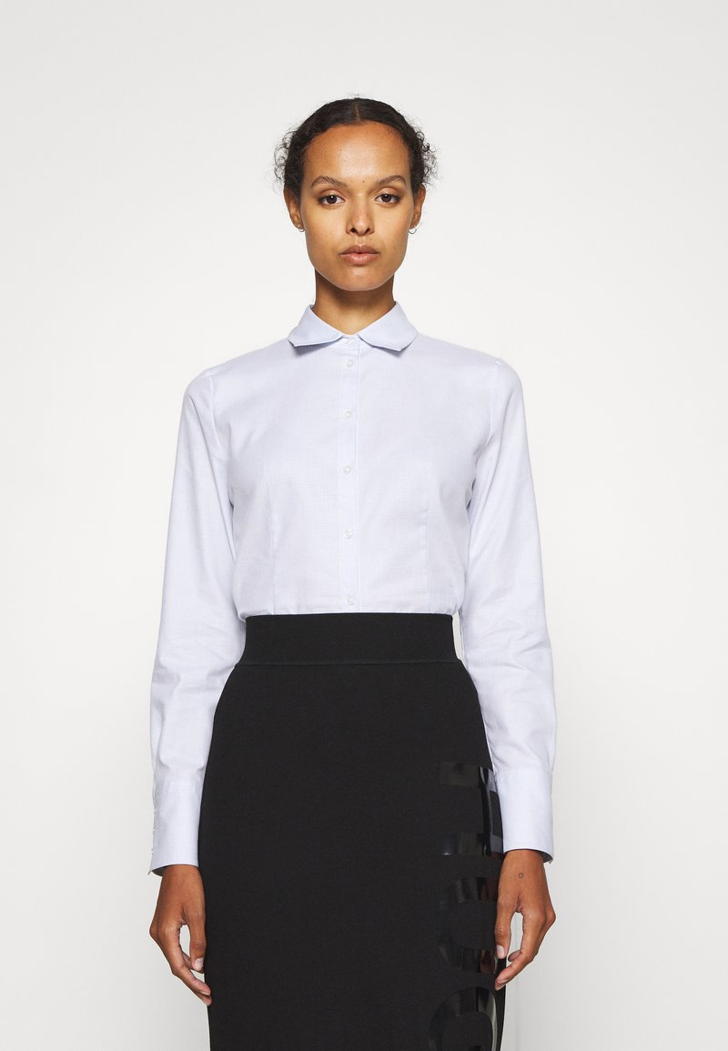 HUGO - THE FITTED SHIRT - Button-down blouse - light pastel blue