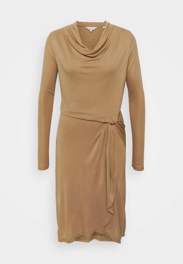 NEYDA - Jersey dress - camel