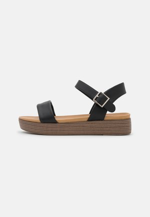 JULYY - Sandály na platformě - black