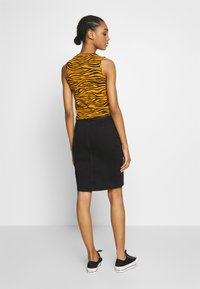Pieces - Pencil skirt - black denim - 2