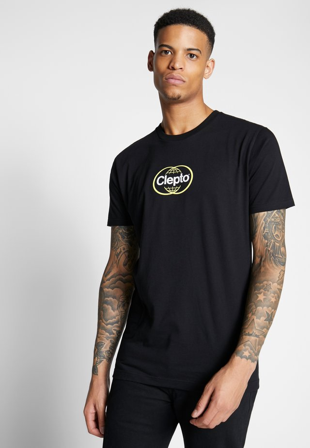 CLEWO - T-shirt z nadrukiem - black