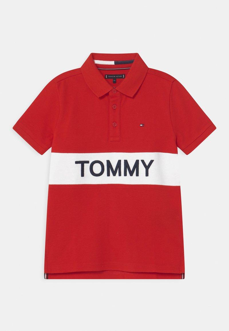 Tommy Hilfiger - BLOCKING  - Polo - deep crimson