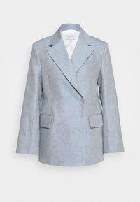 House of Dagmar - CHARLOTTE - Cappotto corto - denim blue - 5