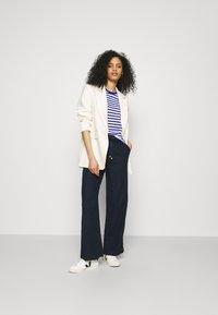 Marks & Spencer London - WIDE LEG - Trousers - dark blue - 1