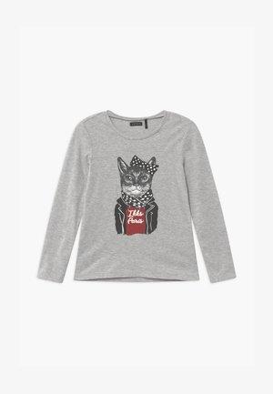 BIKER CAT - Top sdlouhým rukávem - gris