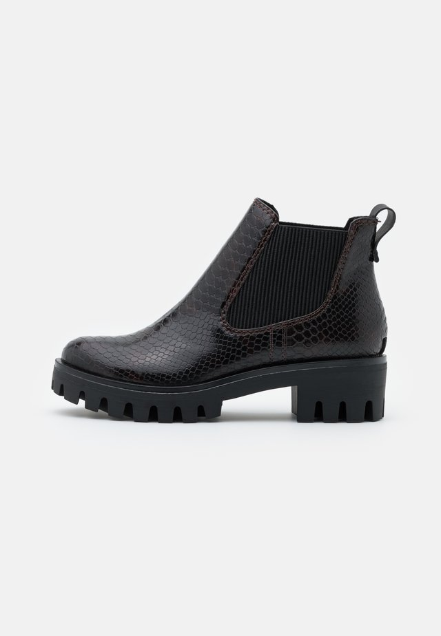 Ankle boot - mahogany