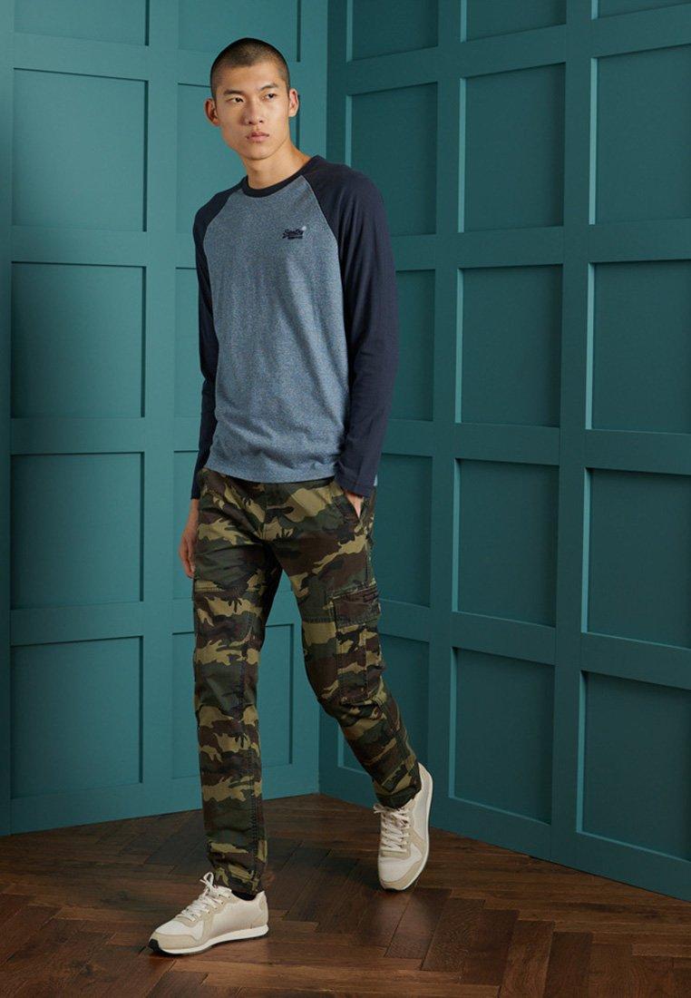 Superdry - Long sleeved top - azure tois mega grit