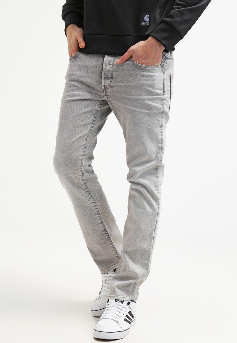G-Star - 3301 STRAIGHT - Straight leg jeans - kamden grey stretch denim
