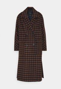 SLFELEMENT CHECK COAT  - Zimní kabát - maritime blue/daschund check