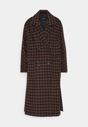 SLFELEMENT CHECK COAT  - Manteau classique - maritime blue/daschund check