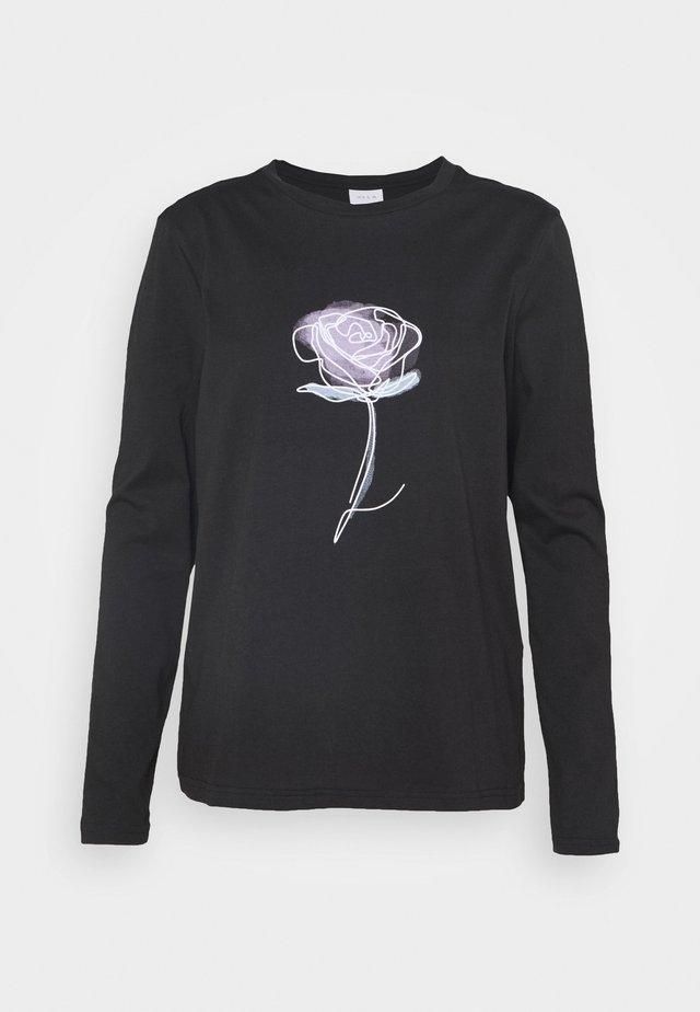 VIPONDA - T-shirt à manches longues - black
