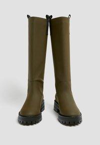 PULL&BEAR - Platform boots - khaki - 3