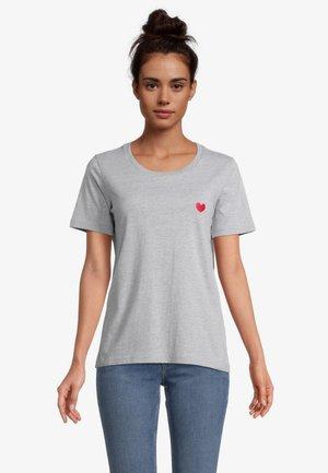 Basic T-shirt - grau melange