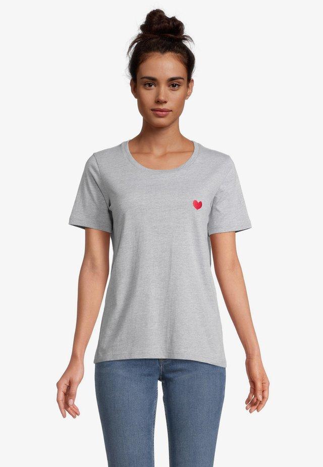 T-shirt basic - grau melange